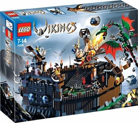 LEGO Vikings Set #7019 Viking Fortress Against the Fafnir Dragon