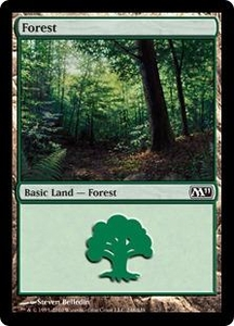 Magic the Gathering Magic 2011 (M11) Single Card Land #246 Forest [Random Artwork]