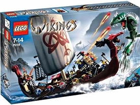 LEGO Vikings Set #7018 Viking Ship Challenges the Midgard Serpent