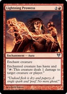 Magic the Gathering Avacyn Restored Single Card Red Uncommon #145 Lightning Prowess