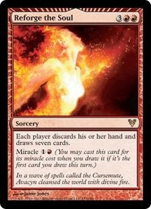 Magic the Gathering Avacyn Restored Single Card Red Rare #151 Reforge the Soul