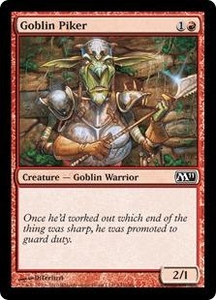 Magic the Gathering Magic 2011 (M11) Single Card Common #142 Goblin Piker