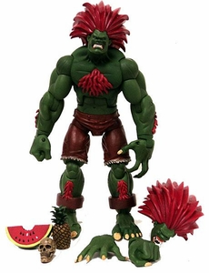 Sota Toys Street Fighter Series 2 Exclusive Action Figure LOOSE Blanka (Dark Green w/ Red Hair)
