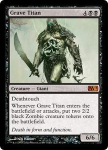 Magic the Gathering Magic 2011 (M11) Single Card Mythic Rare #97 Grave Titan