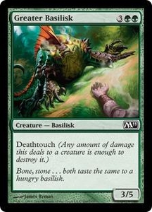 Magic the Gathering Magic 2011 (M11) Single Card Common #180 Greater Basilisk