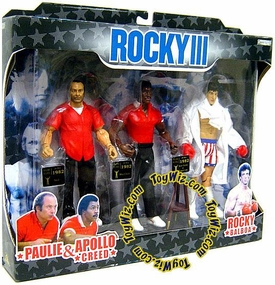 Jakks Pacific Rocky III Exclusive Rocky's Corner Clubber Lang Fight Action Figure 3-Pack [Paulie, Apollo & Rocky]
