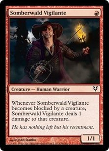 Magic the Gathering Avacyn Restored Single Card Red Common #156 Somberwald Vigilante