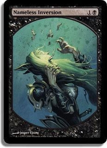 Magic the Gathering Textless Player Rewards Promo Card Nameless Inversion [Textless Player Rewards]