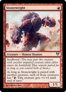 Magic the Gathering Avacyn Restored Single Card Red Uncommon #157 Stonewright
