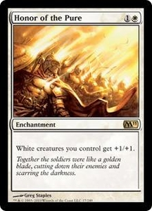 Magic the Gathering Magic 2011 (M11) Single Card Rare #17 Honor of the Pure