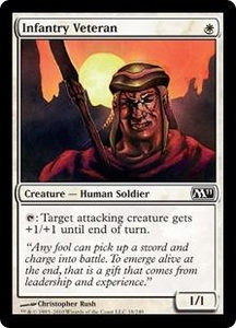 Magic the Gathering Magic 2011 (M11) Single Card Common #18 Infantry Veteran