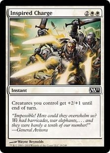 Magic the Gathering Magic 2011 (M11) Single Card Common #19 Inspired Charge