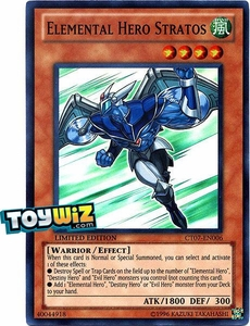 YuGiOh 5D's 2010 Collectible Tin Promo Single Card Super Rare CT07-EN006 Elemental Hero Stratos