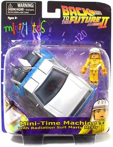 Back to The Future Minimates Vehicle Time Machine [With Radiation Suit Marty McFly]