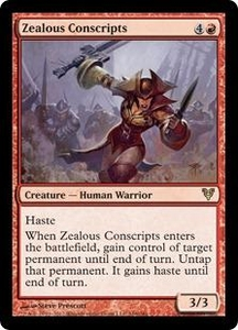 Magic the Gathering Avacyn Restored Single Card Red Rare #166 Zealous Conscripts