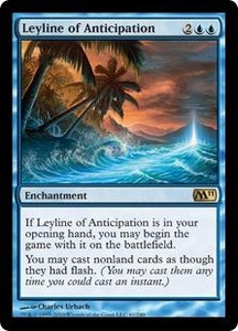 Magic the Gathering Magic 2011 (M11) Single Card Rare #61 Leyline of Anticipation