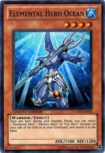 YuGiOh 5D's 2010 Collectible Tin Promo Single Card Super Rare CT07-EN018 Elemental Hero Ocean BLOWOUT SALE!