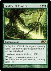 Magic the Gathering Magic 2011 (M11) Single Card Rare #183 Leyline of Vitality