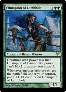Magic the Gathering Avacyn Restored Single Card Green Rare #171 Champion of Lambholt