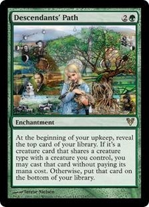Magic the Gathering Avacyn Restored Single Card Green Rare #173 Descendants' Path