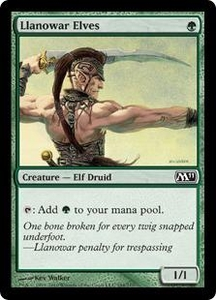 Magic the Gathering Magic 2011 (M11) Single Card Common #184 Llanowar Elves