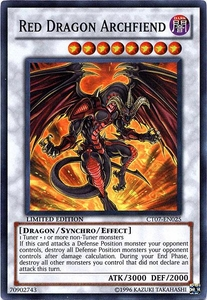 YuGiOh 5D's 2010 Collectible Tin Promo Single Card Super Rare CT07-EN025 Red Dragon Archfiend