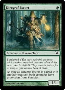 Magic the Gathering Avacyn Restored Single Card Green Common #174 Diregraf Escort