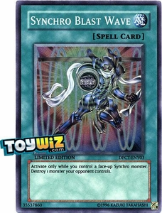 YuGiOh 5D's 2010 Duelist Pack Collection Tin Promo Single Card Super Rare DPCT-ENY03 Synchro Blast Wave
