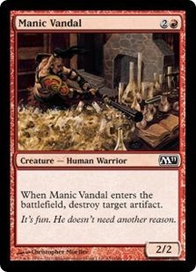 Magic the Gathering Magic 2011 (M11) Single Card Common #151 Manic Vandal