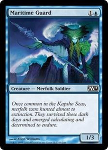 Magic the Gathering Magic 2011 (M11) Single Card Common #63 Maritime Guard