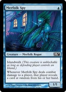 Magic the Gathering Magic 2011 (M11) Single Card Common #66 Merfolk Spy