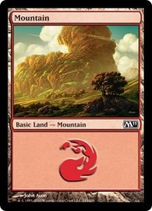 Magic the Gathering Magic 2011 (M11) Single Card Land #242 Mountain [Random Artwork]