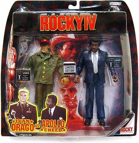 Jakks Pacific Rocky IV Exclusive Limited Edition Action Figure 2-Pack Ivan Drago & Apollo Creed