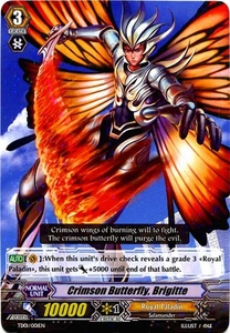 Cardfight Vanguard ENGLISH Blaster Blade Trial Deck Single Card Fixed TD01-001 Crimson Butterfly, Brigitte