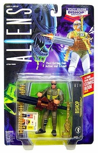 Aliens Kenner Vintage 1992 Action Figure Space Marine Bishop Android [Gattling Gun Action and Sound]