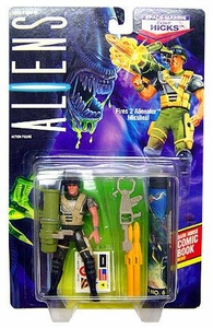 Aliens Kenner Vintage 1992 Action Figure Space Marine Corp. Hicks [Fires Alienator Missiles]