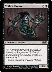 Magic the Gathering Magic 2011 (M11) Single Card Common #108 Nether Horror