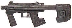 Halo 2 Action Figures Loose Weapon 1/6 Scale SMG with Retractable Stock