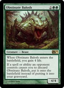 Magic the Gathering Magic 2011 (M11) Single Card Rare #188 Obstinate Baloth