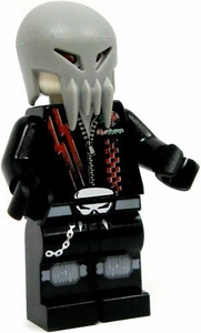 LEGO Space Police LOOSE Mini Figure Skull Twin with Rubber Helmet