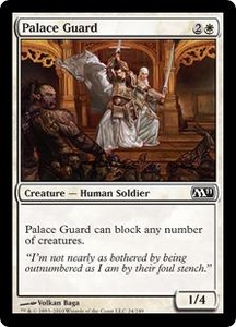 Magic the Gathering Magic 2011 (M11) Single Card Common #24 Palace Guard