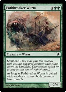 Magic the Gathering Avacyn Restored Single Card Green Common #188 Pathbreaker Wurm