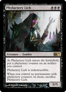 Magic the Gathering Magic 2011 (M11) Single Card Rare #110 Phylactery Lich