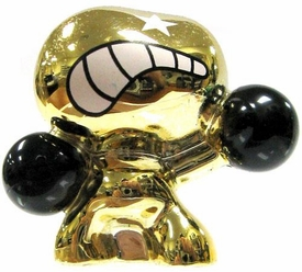 Crazy Bones Gogo's Gold Series Limited Edition Tin LOOSE Single Figure Gold Sato