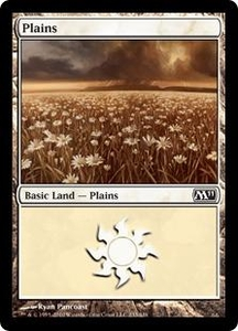Magic the Gathering Magic 2011 (M11) Single Card Land #230 Plains [Random Artwork]