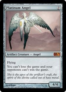 Magic the Gathering Magic 2011 (M11) Single Card Mythic Rare #212 Platinum Angel