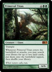 Magic the Gathering Magic 2011 (M11) Single Card Mythic Rare #192 Primeval Titan