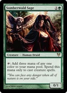 Magic the Gathering Avacyn Restored Single Card Green Rare #194 Somberwald Sage