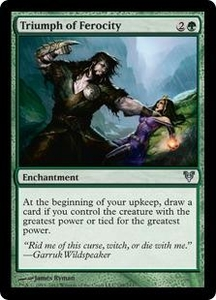 Magic the Gathering Avacyn Restored Single Card Green Uncommon #198 Triumph of Ferocity