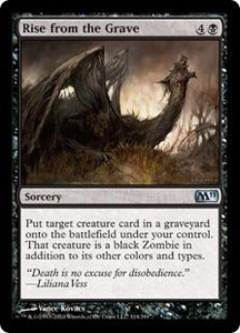 Magic the Gathering Magic 2011 (M11) Single Card Uncommon #114 Rise from the Grave
